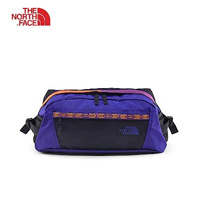The North Face北面男女款藍紫色輕巧休閒腰包 3KXC9QX