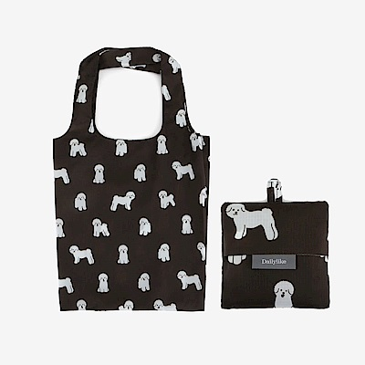 Dailylike 摺疊口袋購物袋S-10比熊犬