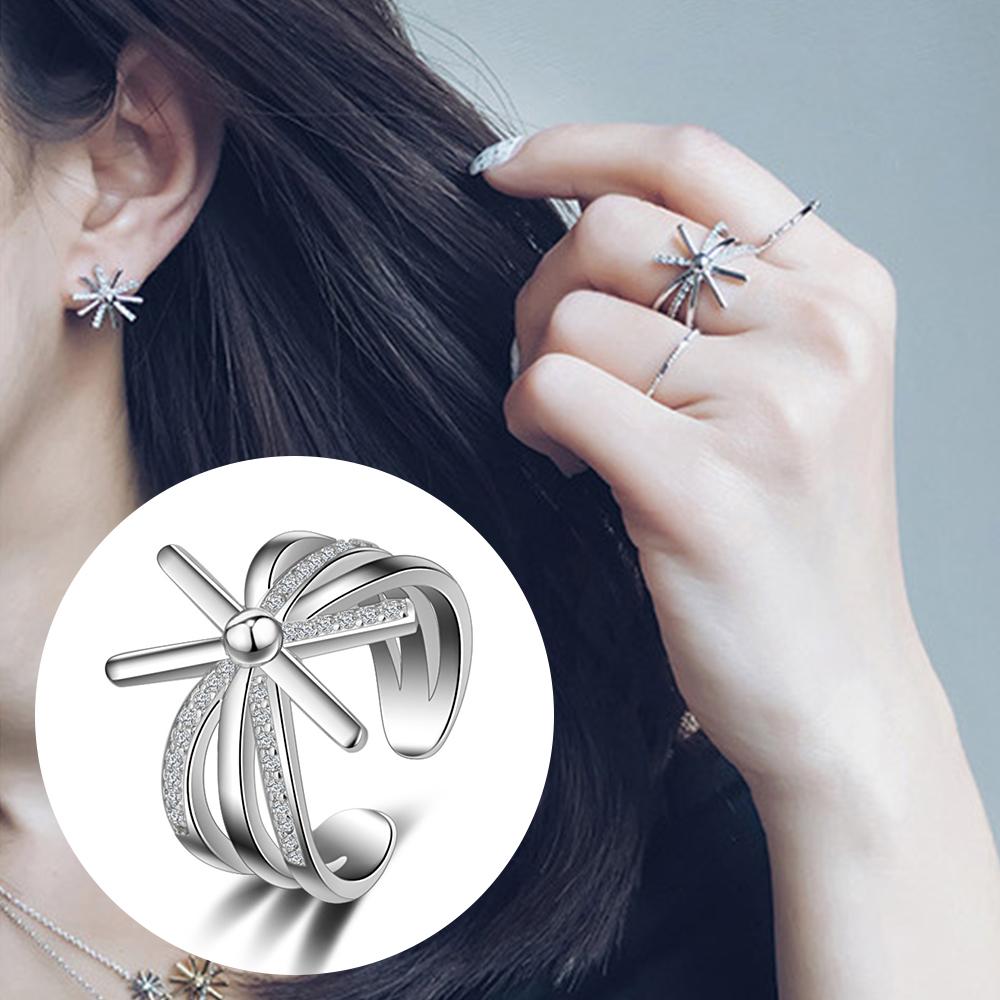 梨花HaNA 韓國925銀太陽的後裔經典花飾戒指