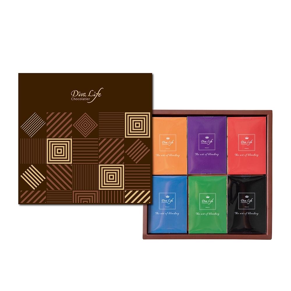 Diva Life 比利時純巧克力36片裝-禮盒