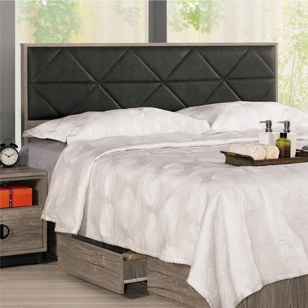 文創集 席爾   現代5尺皮革雙人床頭片(不含床底+不含床墊)-152x9x93cm免組