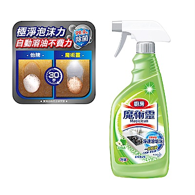 魔術靈 廚房清潔劑 青蘋不刺鼻 噴槍瓶 (500ml)