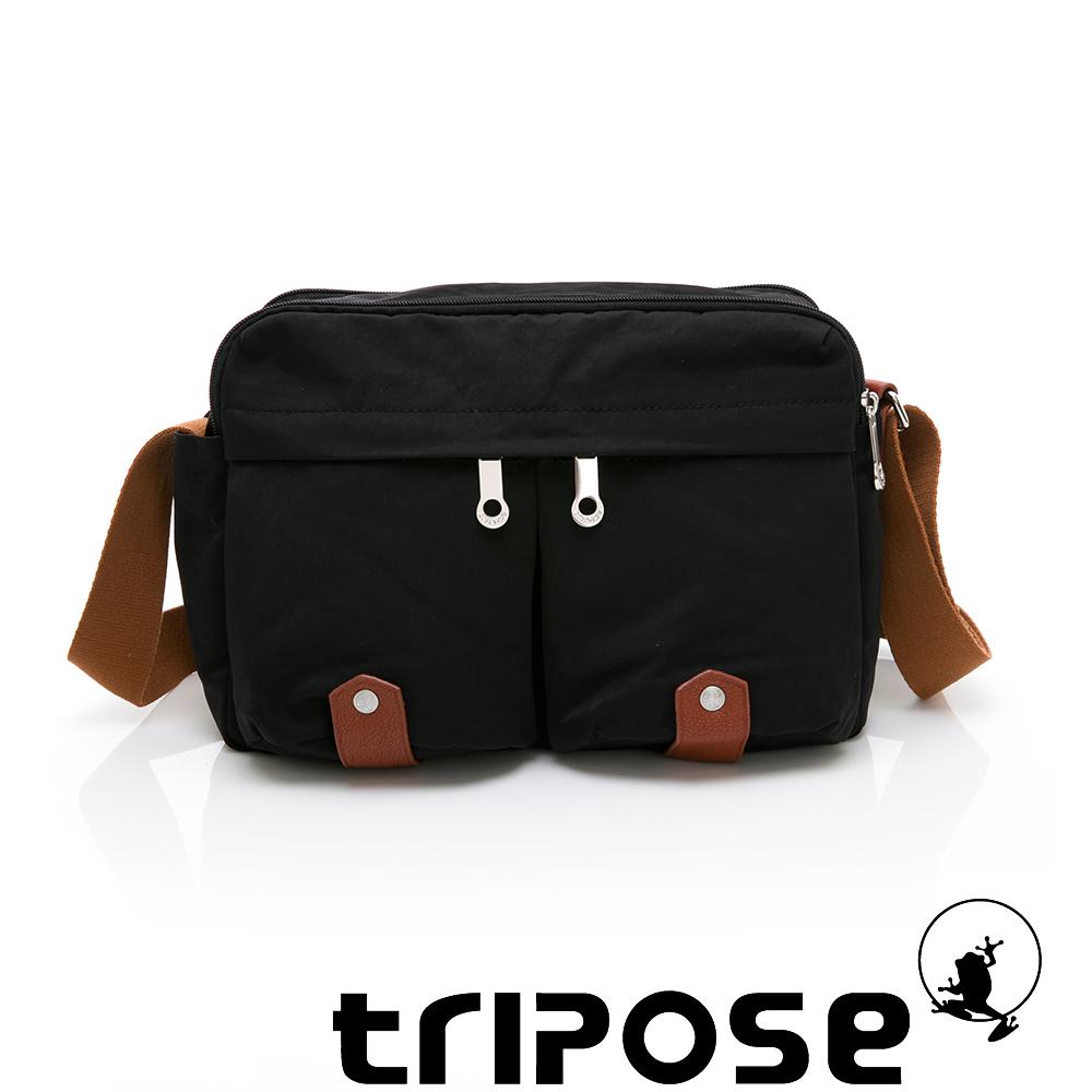 tripose MOVE系列多格層機能斜背包 黑色
