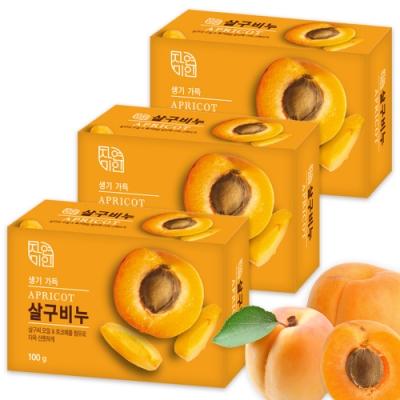 韓國 MKH無窮花 杏桃保濕美肌香皂 <b>3</b>入