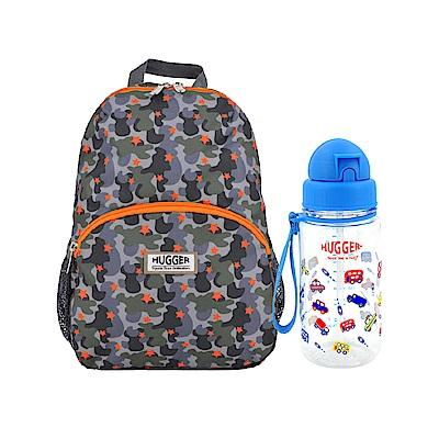英國Hugger孩童背包水壺組 迷彩沙漠+玩具車