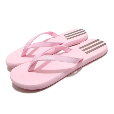 adidas 拖鞋 Eezay Flip Flops 夾腳 女鞋 愛迪達 輕便 舒適 穿搭 夏日 簡約 粉 白 FY8112