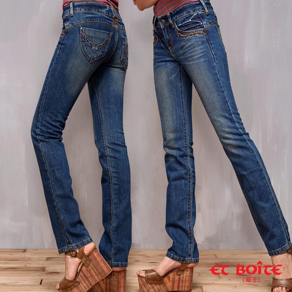 ET BOiTE 箱子 –LeJean繡花鉚釘顯瘦直筒牛仔褲