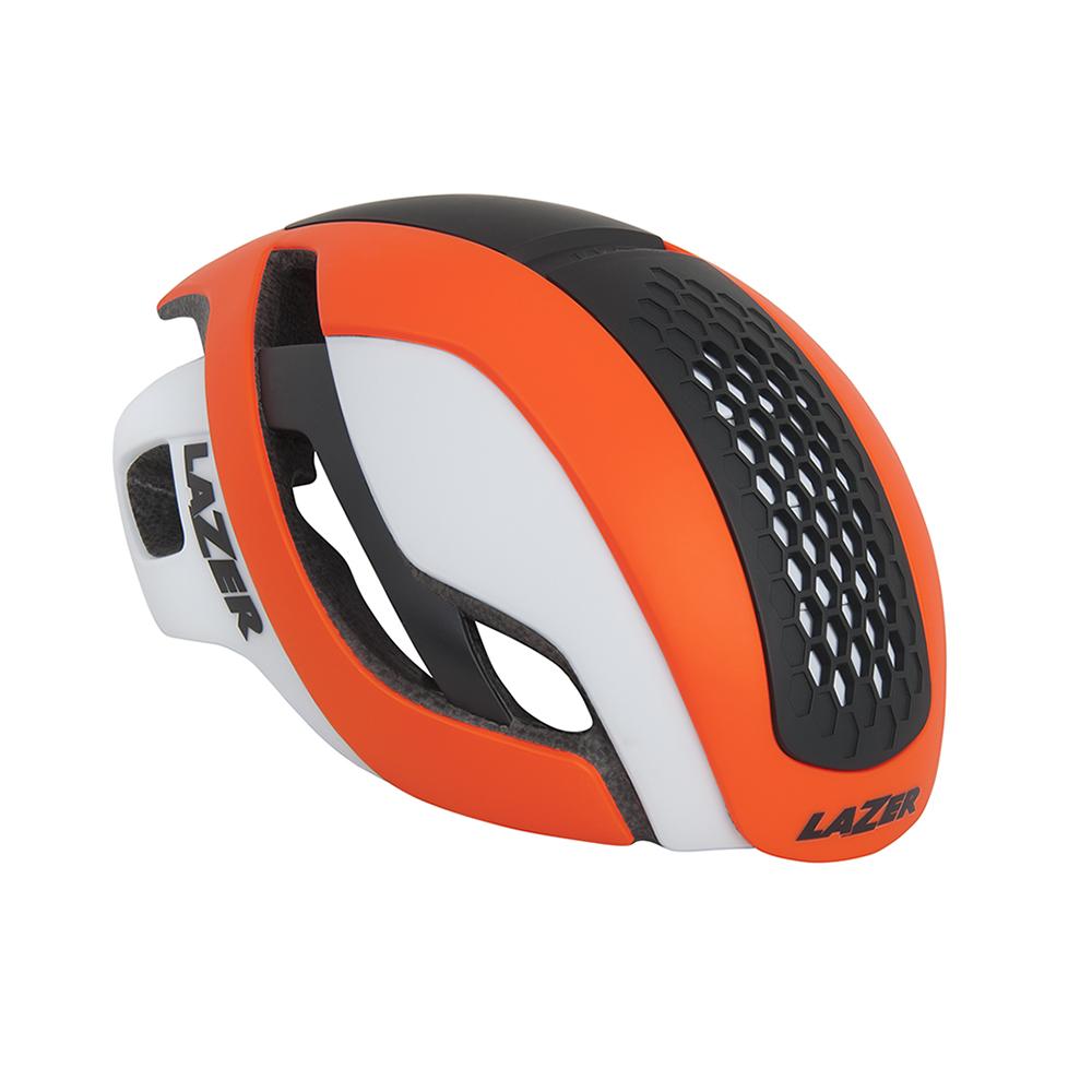 【LAZER】Bullet 空氣力學安全帽 橘/白