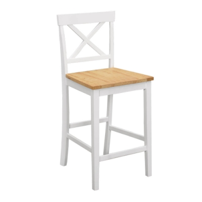 Bernice-朵恩白色實木吧台椅/高腳椅/休閒椅-41x46x95cm