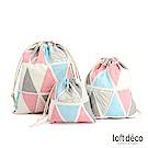 Loft Deco | Triangle | 束口袋三件套