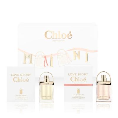 (期效品)Chloe' Les Mini Chloe' 愛情故事小小雙氛緞帶限量禮盒(愛情故事20ml+日落巴黎20ml)-期效202011