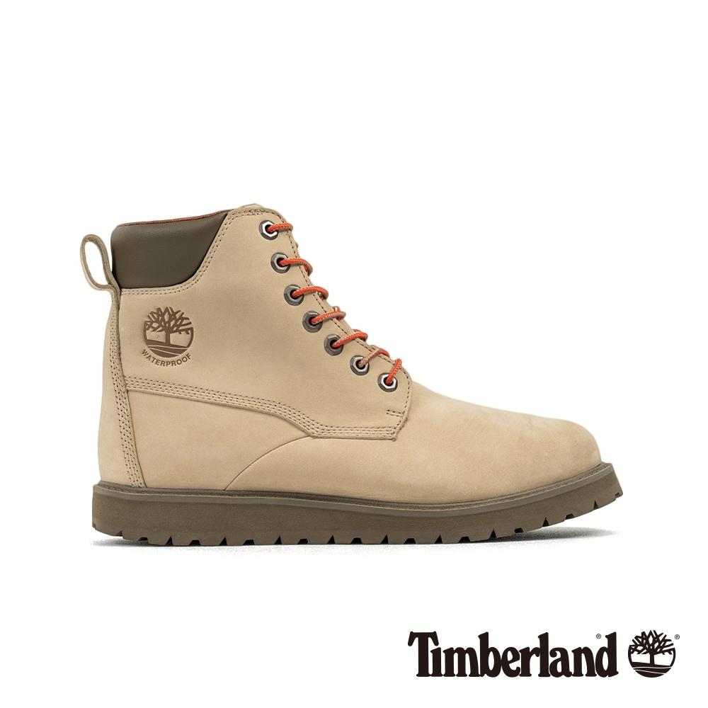 Timberland 男款中駝色磨砂革靴|A28BS