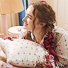 Maison de FLEUR 直條紋花卉蝴蝶結裝飾枕頭套