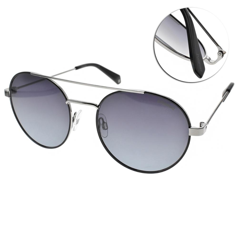 Polaroid 偏光太陽眼鏡 活力飛行款/黑銀 #PLD 6056S 284WJ