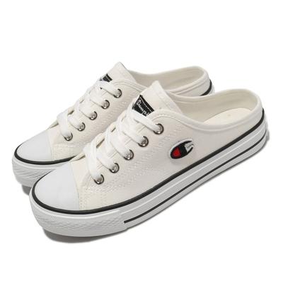 Champion 休閒鞋 Canvas Slip 拖鞋 女鞋 懶人鞋 外出 輕便 穿搭推薦 白 黑 WSLS101400