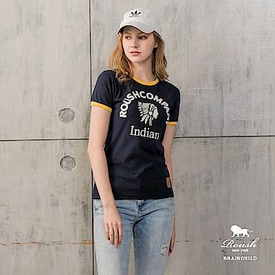 Roush 女生美式印地安頭像短TEE(3色)