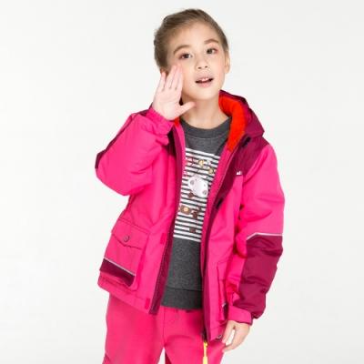 【St. Bonalt 聖伯納】童款撞色羽絨外套 (8108-桃紅) 防風  防水 保暖 透氣