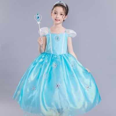 Kori Deer 可莉鹿 冰雪艾莎短袖蓬裙公主服 女童萬聖節派對變裝禮服造型攝影