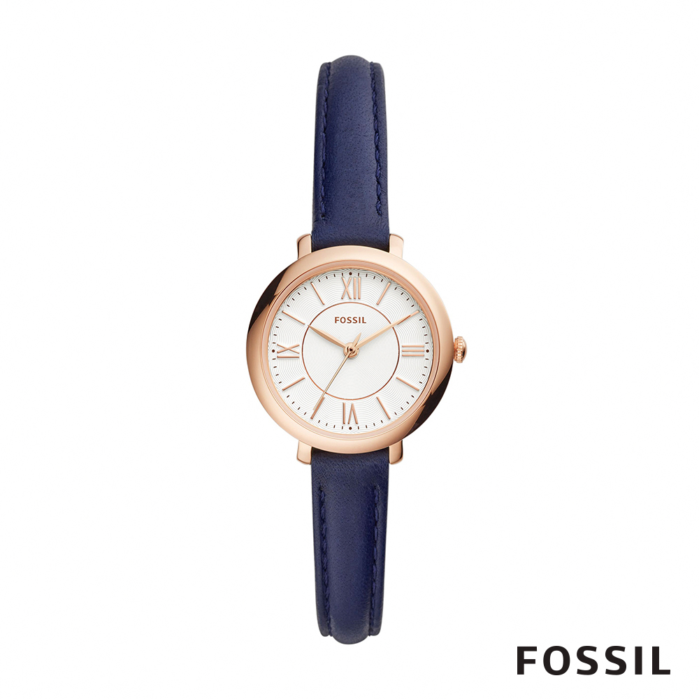 FOSSIL JACQUELINE SMALL 藍色賈姬風尚迷你手錶