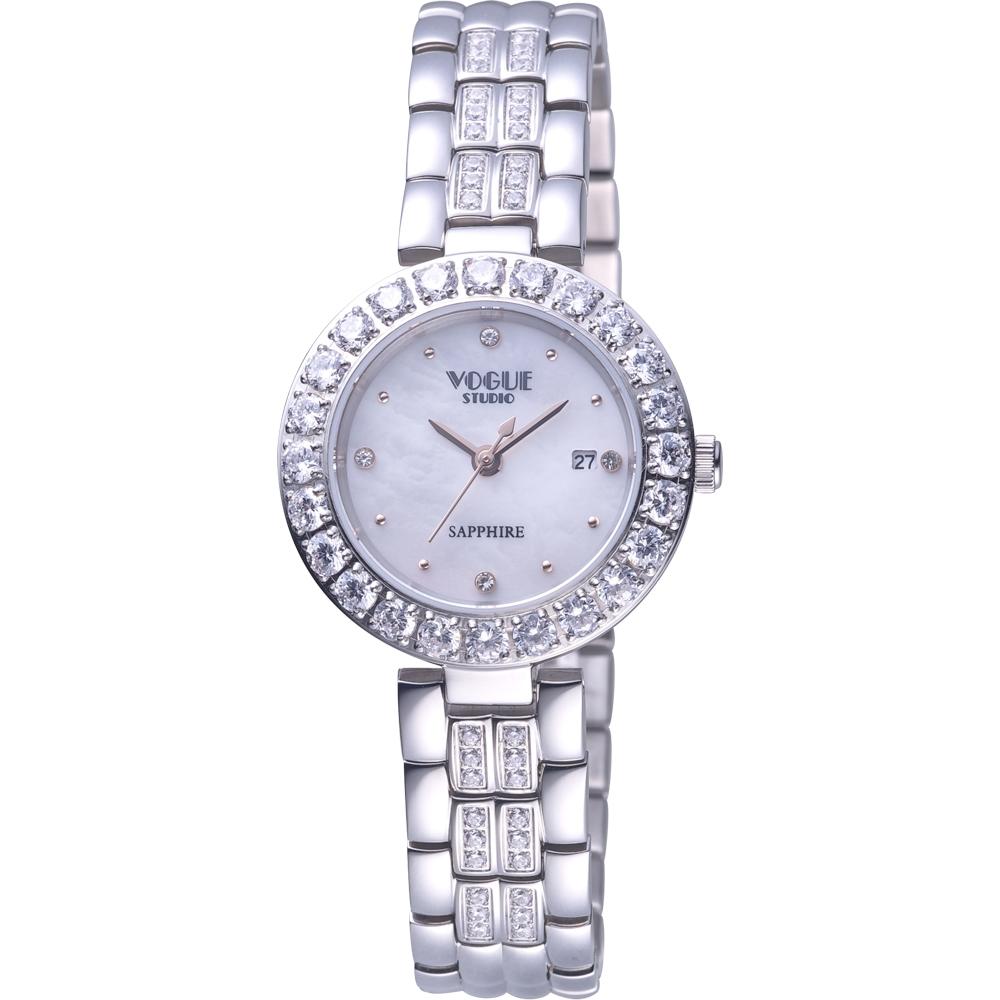 VOGUE 璀璨晶鑽時尚腕錶 VG2104W1P1DD/白-29mm