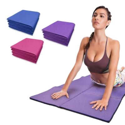 【Incare】多功能方形折疊止滑瑜珈墊(附收納袋/173X61X0.6cm)