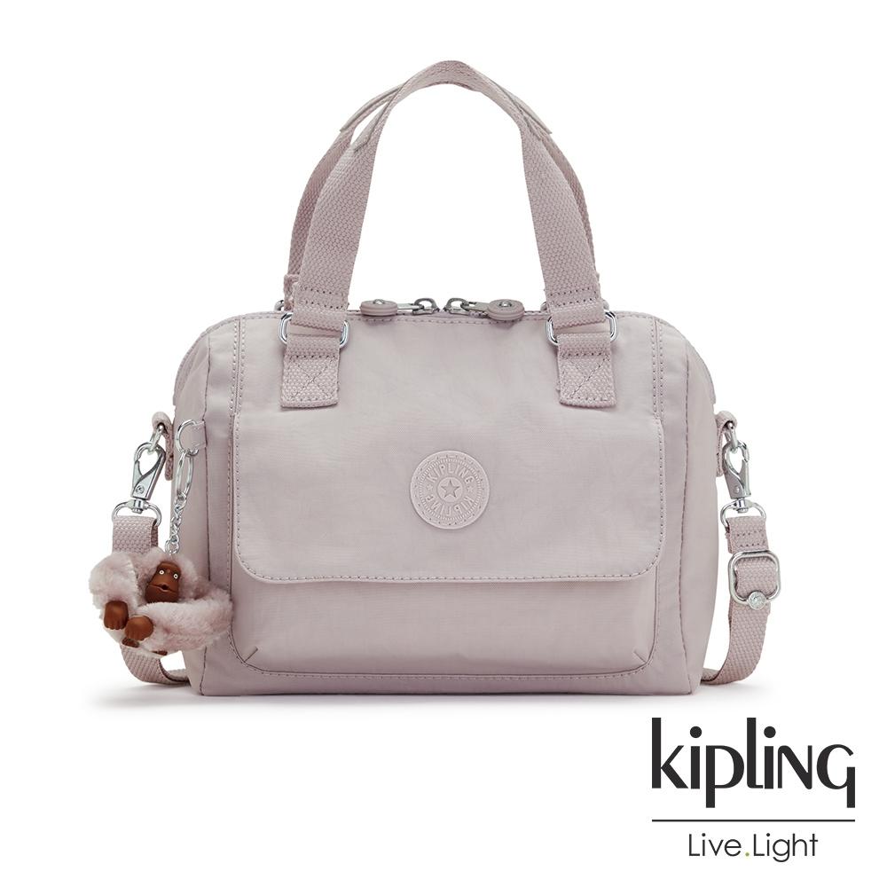 Kipling 優雅高級灰翻蓋手提側背包-ZEVA