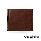 VECHIO - 經典商務男仕系列-3卡透明窗皮夾 - 褐