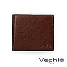 VECHIO - 經典商務男仕系列-9卡中翻透明窗皮夾 - 褐