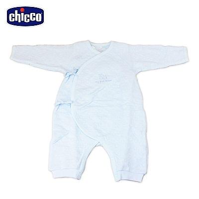 chicco-夾棉肚衣式兔裝-藍(3-6個月)