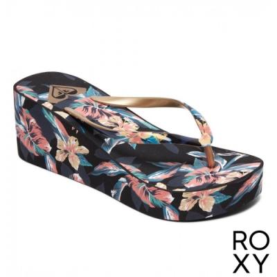 【ROXY】SUNNY WEDGE II 夾腳拖 黑色
