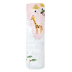 美國aden+anais輕柔新生兒包巾(1入)-彩繪童畫系列AA8967