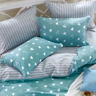 戀家小舖 / 單人床包枕套組 小日子 100%精梳純棉