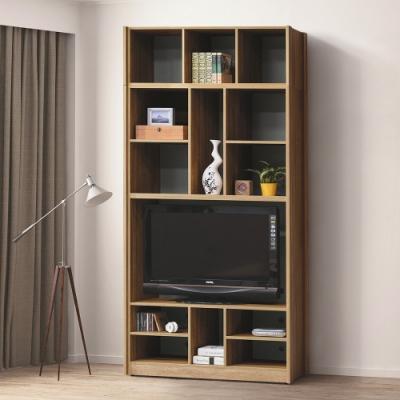 Boden-帕爾3.9尺開放式加高電視櫃/書櫃/收納櫃/置物櫃-118x40x237cm