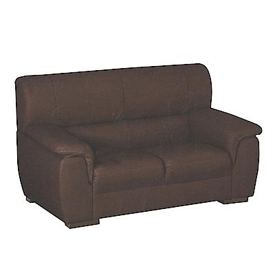綠活居 米加利時尚半牛皮革二人座沙發-156x87x95cm-免組