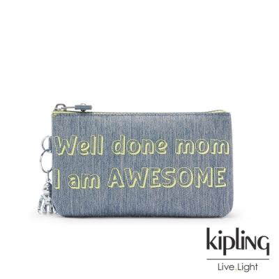 Kipling 向媽媽致敬,刺繡包款三夾層配件包-CREATIVITY L