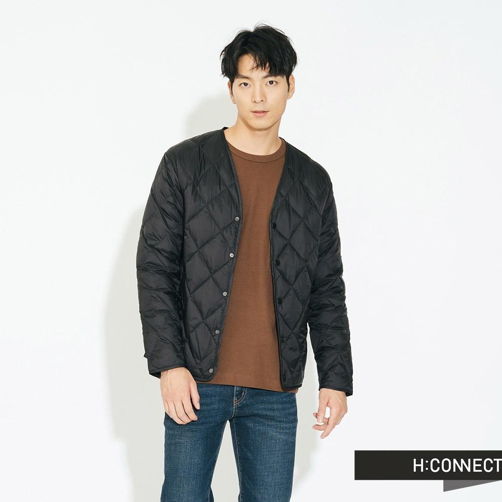 H:CONNECT 韓國品牌 男裝-素面保暖羽絨外套 - 黑(快)