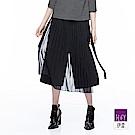 ILEY伊蕾 都會時尚簡約寬褲(黑)