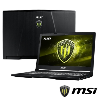 MSI微星 WE63-852 15吋繪圖筆電(i7-8750H/P1000/16G)
