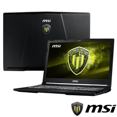 MSI微星 WE63-850 15吋繪圖筆電(i7-8750H/P2000/16G)