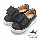 天使童鞋 可愛大蝴蝶結休閒鞋(中-大童)D721-04 黑