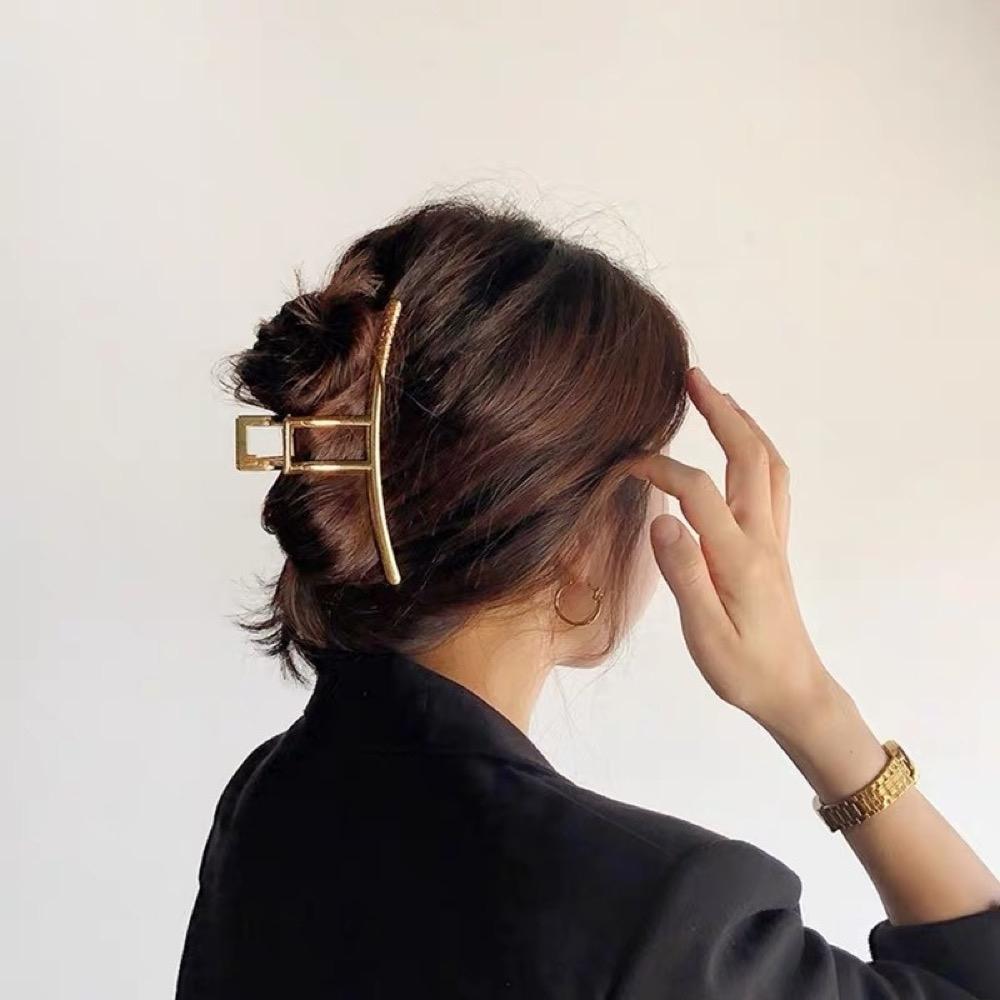 【89 zone】法式古典氣質合金抓夾/髮夾 1入 (金色)