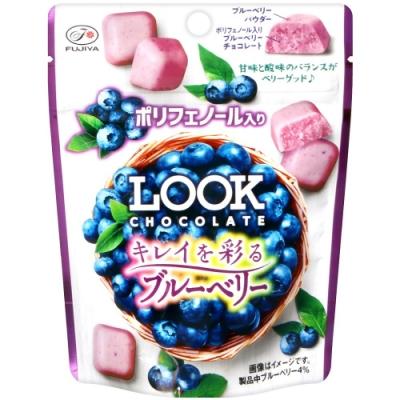 不二家 LOOK代可可脂巧克力[藍莓風味](35g)