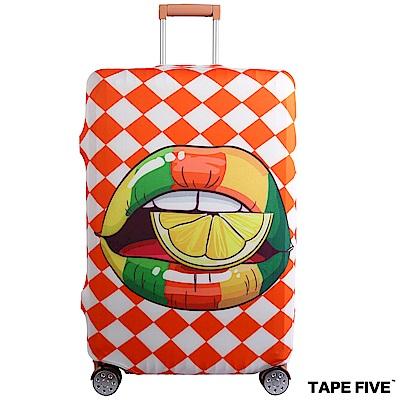 Tape Five 高彈性行李箱套-檸檬彩唇 (適用27-29吋行李箱)
