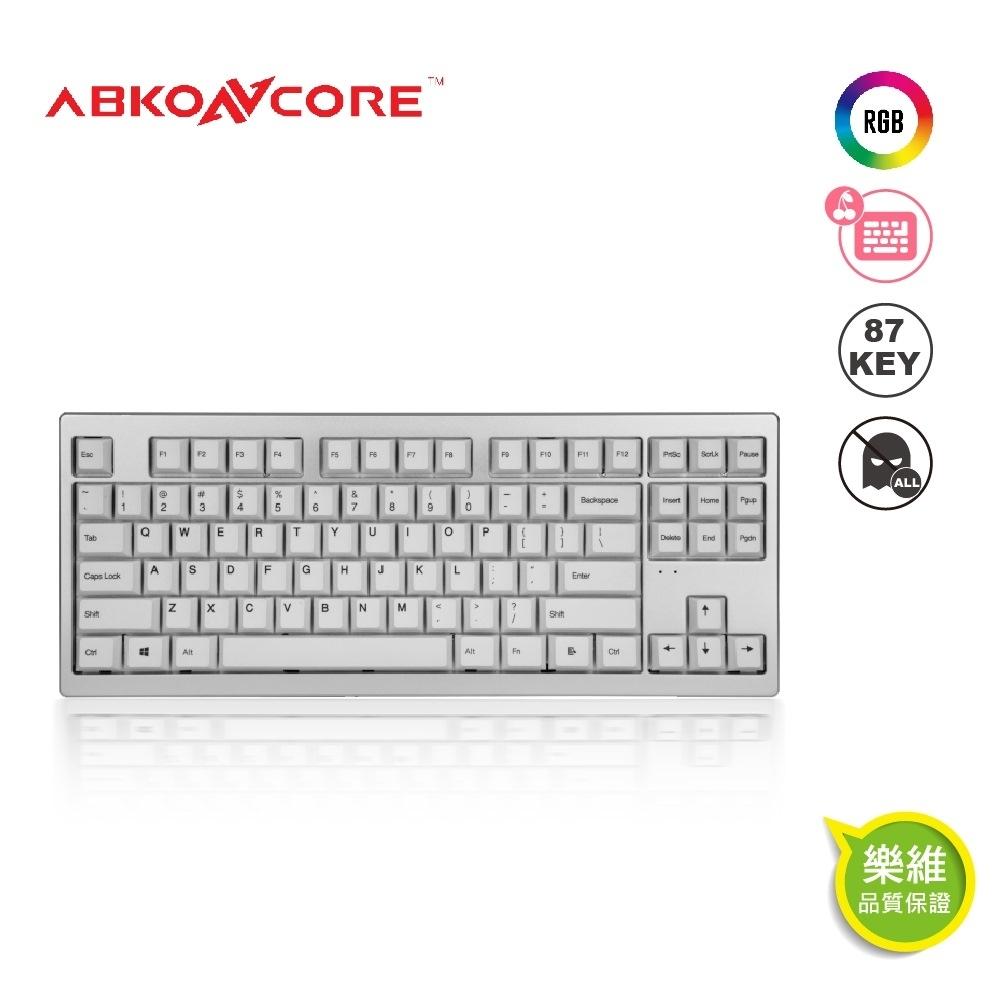 【ABKONCORE】AR87全鋁CNC機械式鍵盤87鍵 PBT 櫻桃 粉紅軸 英文