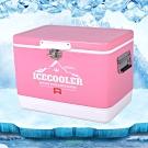 韓國熱銷 ICE COOLER 不鏽鋼行動冰箱29L 冰桶 保溫箱 (粉色)