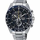 SEIKO精工 CS 重裝計時手錶(SSB321P1)-藍/44mm