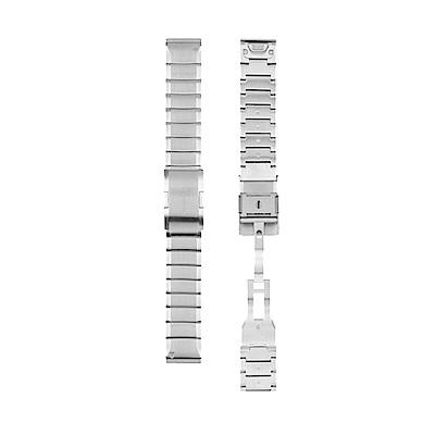 GARMIN QuickFit 22mmvm,雪亮銀白鋼錶帶