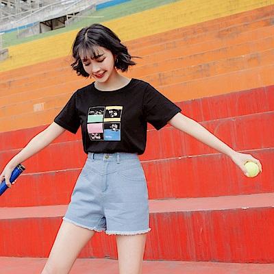 美國棉運動kitty台灣製純棉上衣-OB大尺碼