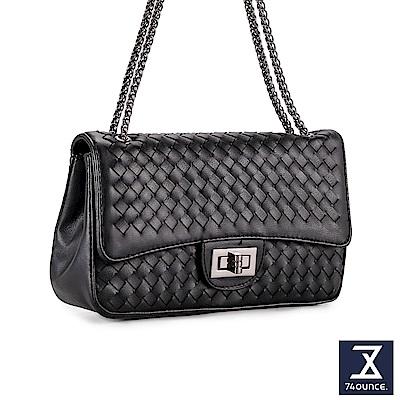 74盎司 時尚優雅鍊條編織包[LG-836]黑