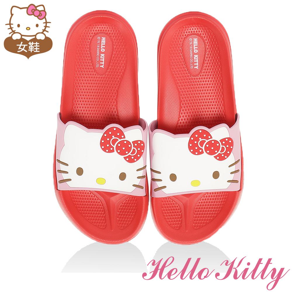 HelloKitty童鞋 輕量吸震內外兩用拖鞋-紅